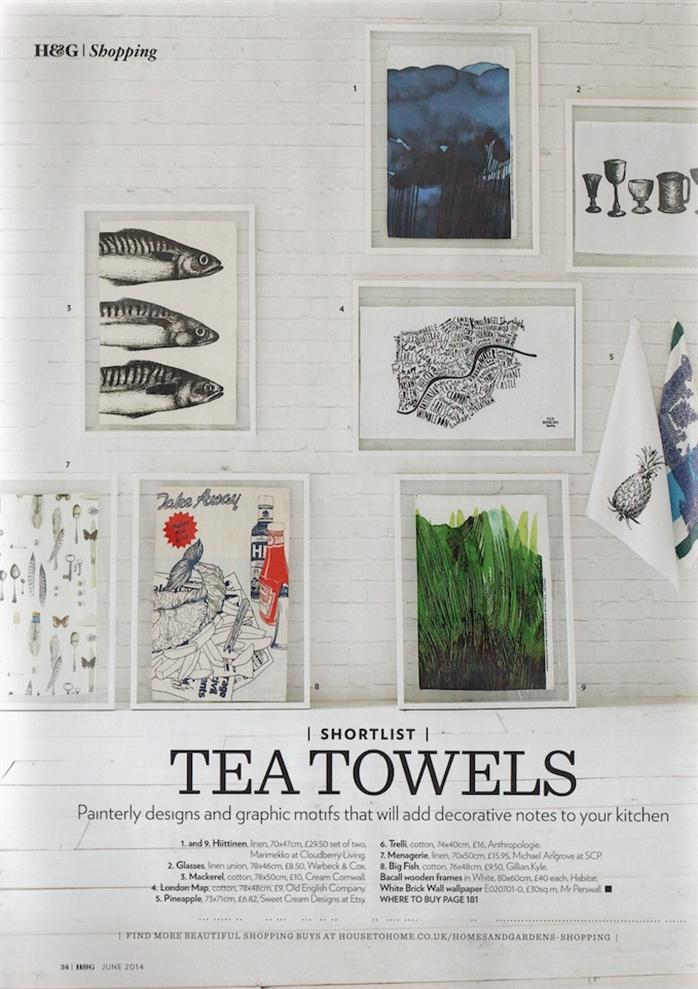 Linen tea towels Michael Angove exclusive design for avenida home